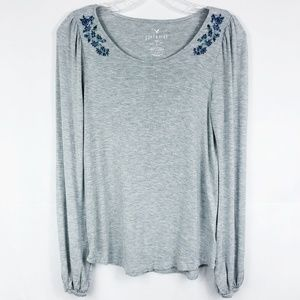 3/30 American Eagle | Soft & Sexy Embroidered Top